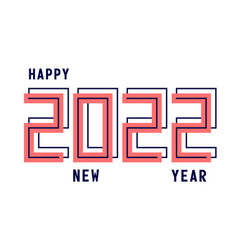 happy new year 2022 with numbers sport style new vector image