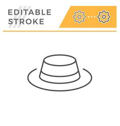 hat editable stroke line icon vector image