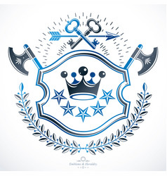 Heraldic coat of arms decorative emblem isolated vector