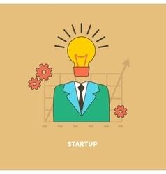 Idea as beginning startup eureka vector