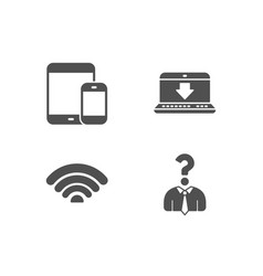 Internet downloading wifi and mobile devices vector