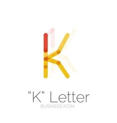 K letter logo minimal line design vector image