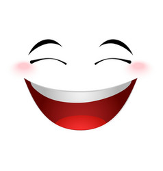 Laughing emoticon sign vector