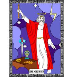 magician man card vector image