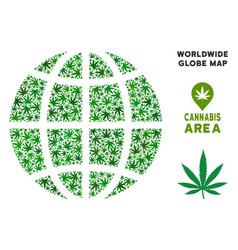 marijuana composition planet globe vector image