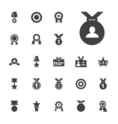 Medal icons vector