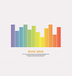 music wave logo vector image