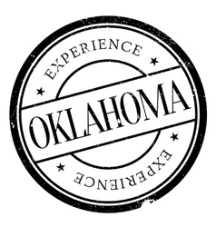 Oklahoma stamp rubber grunge vector