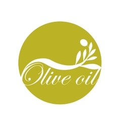 Olive oil label design text icon vector