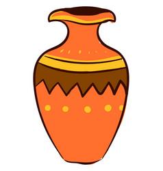 orange vase on white background vector image