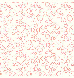 pattern line hearts vector image