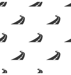 Road icon in black style isolated on white vector image