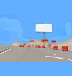 Road under construction vector