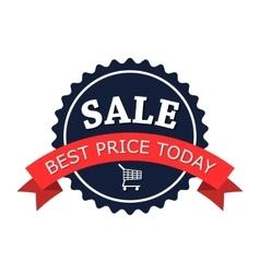 Sale round flat logo vector