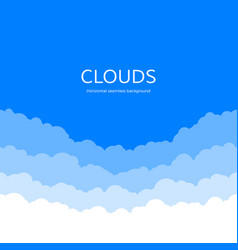 seamless clouds skyline background paper clouds vector image