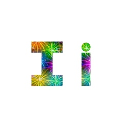 Set of letters firework I vector