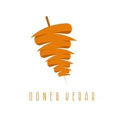 Simple flat doner kebab vector
