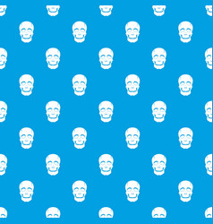 Singer mask pattern seamless blue vector