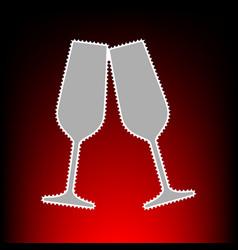 sparkling champagne glasses vector image vector image