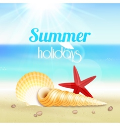 Summer holiday vacation travel poster vector