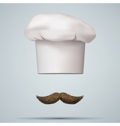 Symbol of chef cap toque and mustache vector