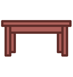 table icon filled line style eps10 vector image