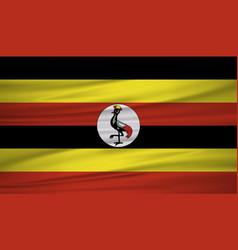 uganda flag flag of uganda blowig in the wind vector image