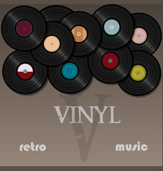 vinyl record music for a postcard or vector image