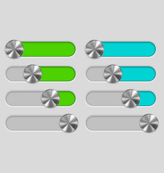 web interface slider set user interface control vector image