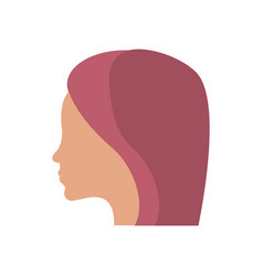 women day profile girl icon vector image