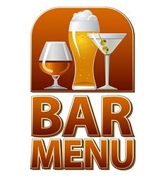 bar menu sign vector image vector image