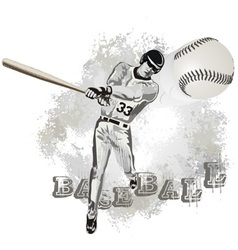 base ball player vector image vector image
