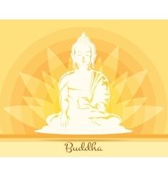 Buddha with lotus flower vector image