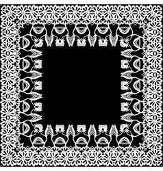 Floral border frieze frame vector image vector image