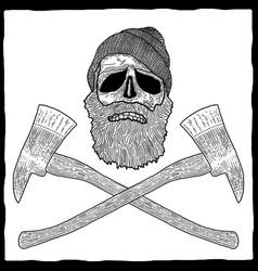 lumberjack effective poster vector image vector image