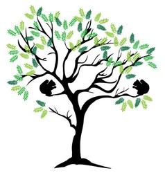 squirrel tree vector image vector image