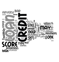 what you need to know about adverse credit loans vector image
