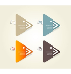 Four colored paper triangles vector image