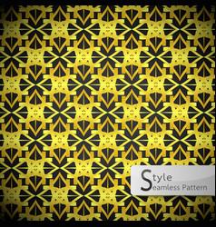 lotus mesh gold vintage geometric seamless vector image vector image