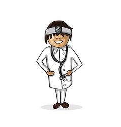 Professional doctor man cartoon figure vector image vector image