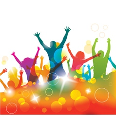 Young people on the party vector image vector image