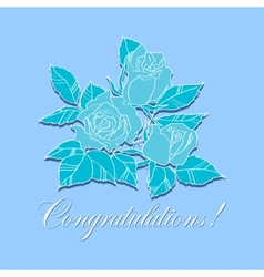congratulation with roses vector image vector image