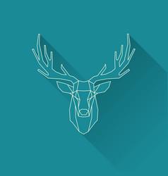 deer frame invert vector image