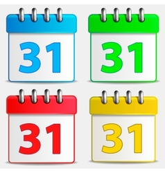 Four colored calendar icons vector image vector image