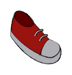 shoe cartoon isolated vector image