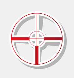sight sign new year reddish vector image vector image