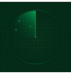 Green radar screen vector image