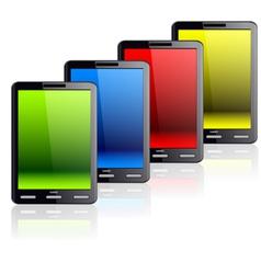 vertical tablet computer vector image