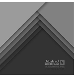 Abstract background with gray layers vector image