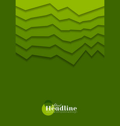 Abstract green gradient tech corporate background vector